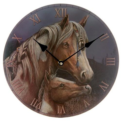 Bilderuhr Pferd Apache