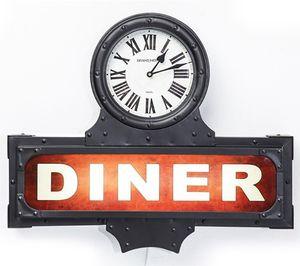 Kare Leuchtobjekt Diner Time mit Uhr