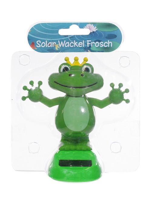 Solar wackelfigur froschk nig for Gartendeko solar figuren
