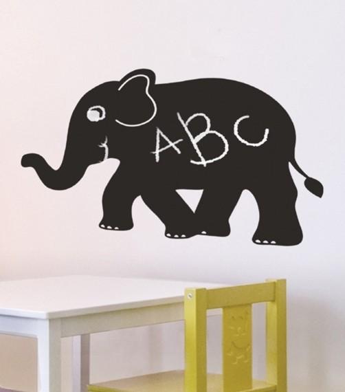 Maltafel Klebefolie Elefant mit Kreide