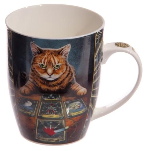 Fantasy Tasse Wahrsager Katze