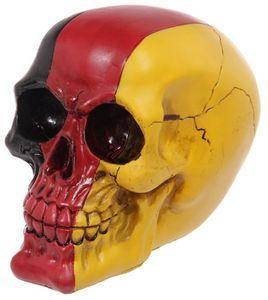 Totenkopf Skull mit Deutschlandflagge