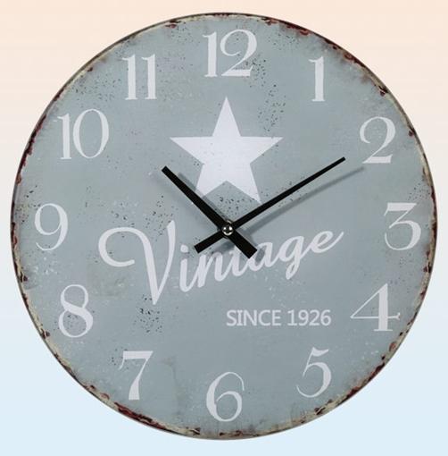 Glas Wanduhr Vintage Star