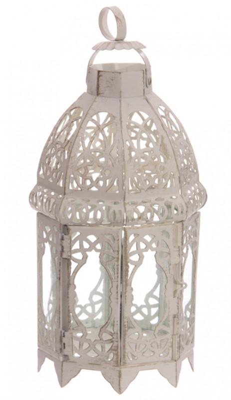 marokkanische laterne 8 eckig 29 cm wei. Black Bedroom Furniture Sets. Home Design Ideas