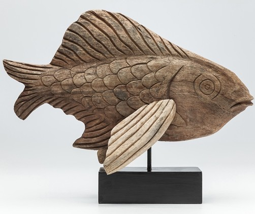 Deko Figur Flying Fish natur