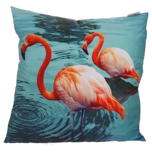 Kissen Zwei Flamingos 48 x 48 cm