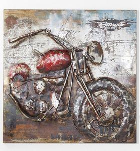 KARE Bild Metall Iron Motorbike