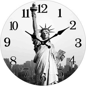 Glas Uhr Statue of Liberty 38 cm