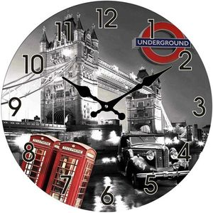 Glas Uhr Tower Bridge 38 cm
