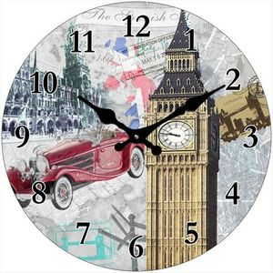 Glas Uhr Vintage  Big Ben & more