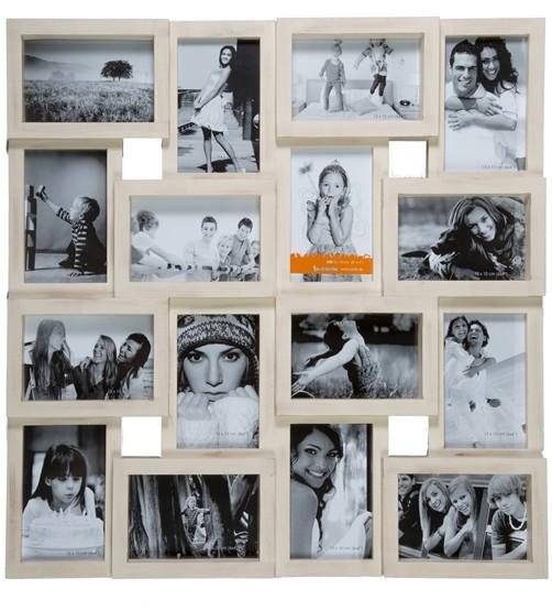 Bilderrahmen Galerie Vintage Style Elfenbeinfarben für 16 Fotos
