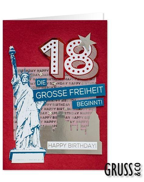 XXL Grußkarte 18. Geburtstag 42,3 x 30 cm