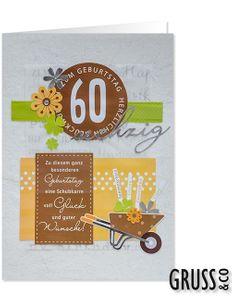 XXL Geburtstagskarte 60. Geburtstag