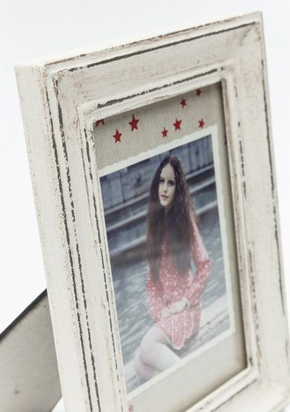 Bilderrahmen Vintage Shabby Chic Weiß 10 x 15 cm