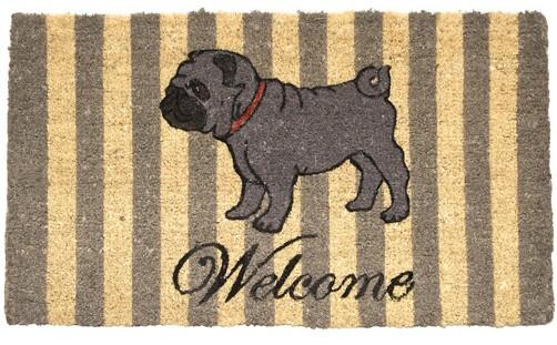 Fußmatte Welcome Mops