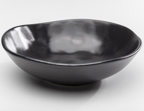 Kare Teller Tief Organic Black  22cm