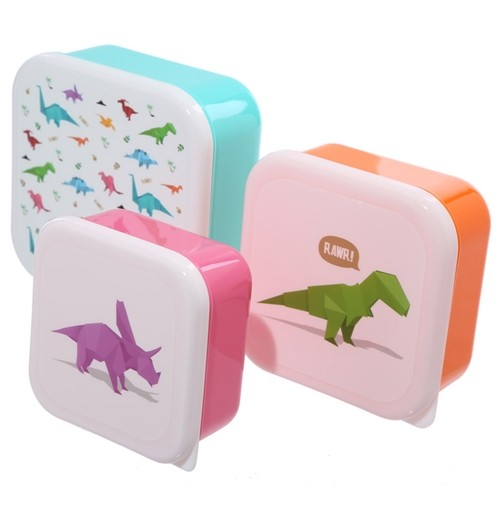 3er Set Lunchbox Dino