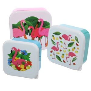 3er Set Lunchbox Flamingo