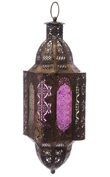 Marokkanische Laterne gebürstetes Metall 60 cm