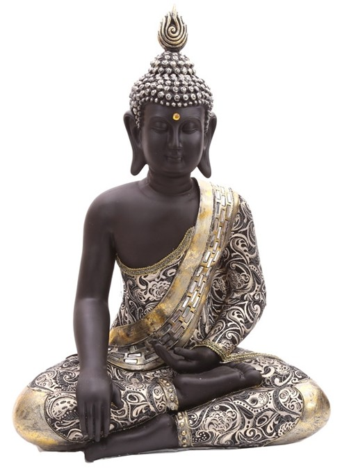 thai buddha figur sitzend statue buddhistisch skulptur statue thailand deko 65cm ebay. Black Bedroom Furniture Sets. Home Design Ideas