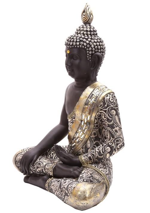 thai buddha figur sitzend statue buddhistisch skulptur statue thailand deko 65cm ebay. Black Bedroom Furniture Sets. Home Design Ideas