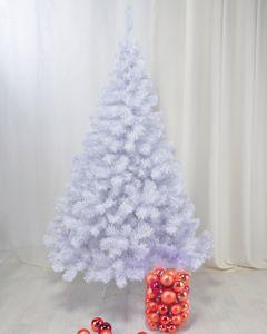 Künstlicher Weihnachtsbaum weiß 210 cm