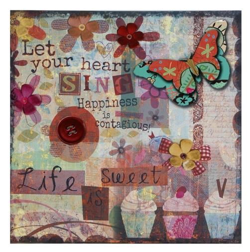 "Bild "" HEART SING "" 60 x 60 cm"