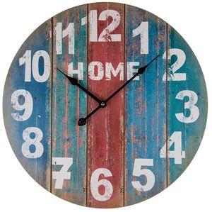 "MDF Wanduhr  "" Home "" 44 cm Vintage"