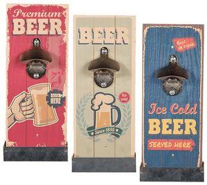 Wand-Flaschenöffner mit Auffangbehälter | Variante: Beer