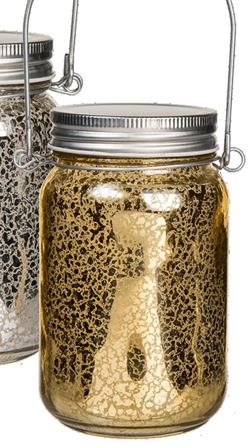 Deko Einmachglas Mit 5 Leds Gold