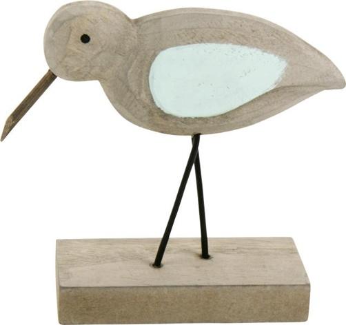 Dekofigur Vogel auf Holzsockel