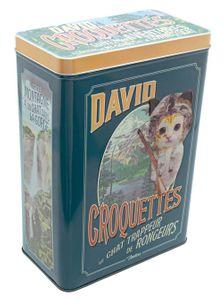 Retro Metall - Vorratsdose für Katzenfutter David Croquettes 25,5 x 17,5 x 10 cm