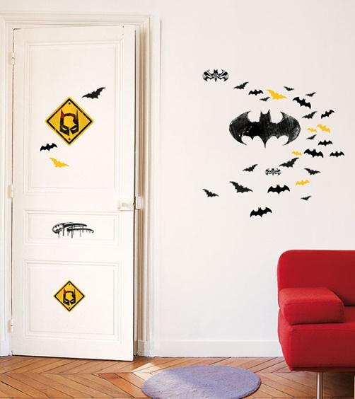 Kinder wandtattoo batman logo von warner for Batman wandtattoo