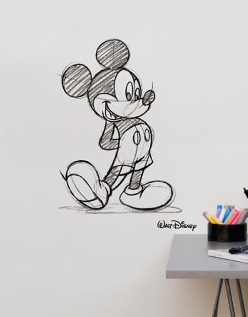 Kinder Wandtattoo Mickey Mouse gezeichnet von Disney