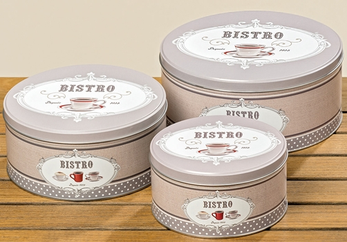 "Metall Retro Dosen ""Bistro"" 3er Set"