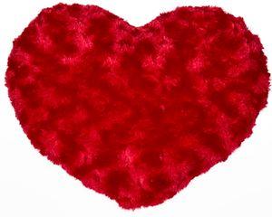 Herz Kissen flauschig rot