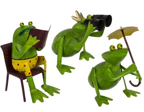 Metall Gartenfigur Frosch 3 Modelle zur Auswahl