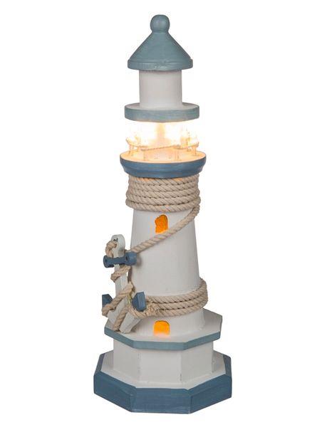 LED Deko Holz Leuchtturm 30