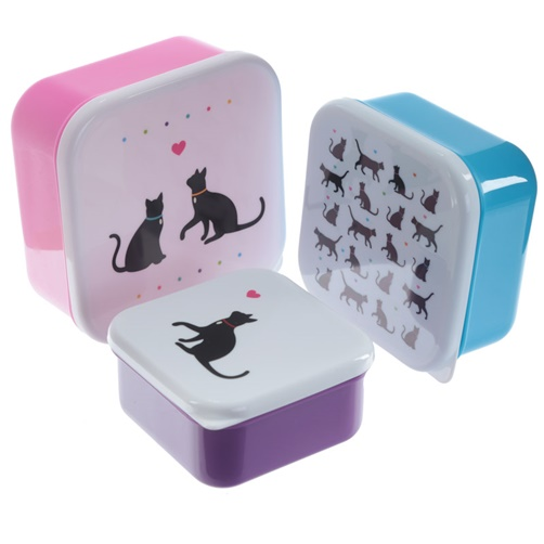 3er Set Lunchbox I Love My Cat