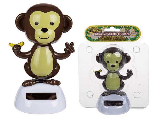 Solar Wackelfigur Affe mit Banane