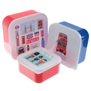 "3er Set Lunchbox "" London """