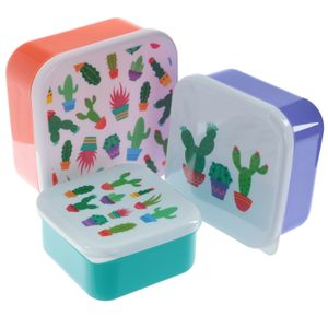 "3er Set Lunchbox "" Kaktus"""