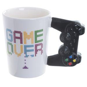 "Tasse ""Game over"" mit Gamecontroller Griff"