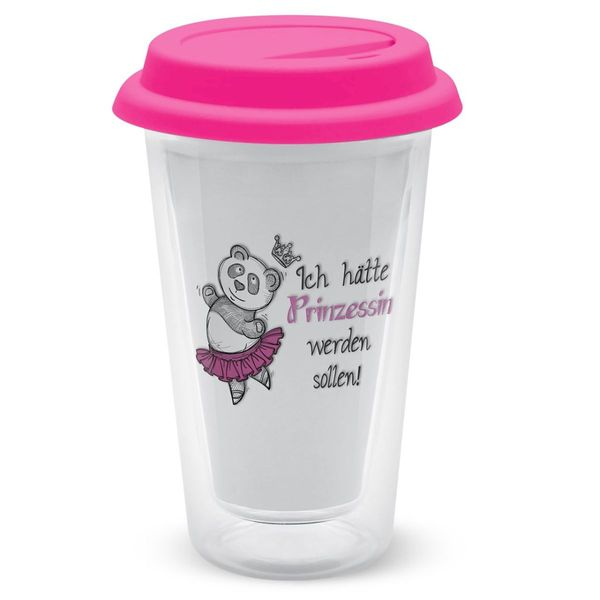 Sheepworld Glas- Kaffeebecher to go Prinzessin 350 ml