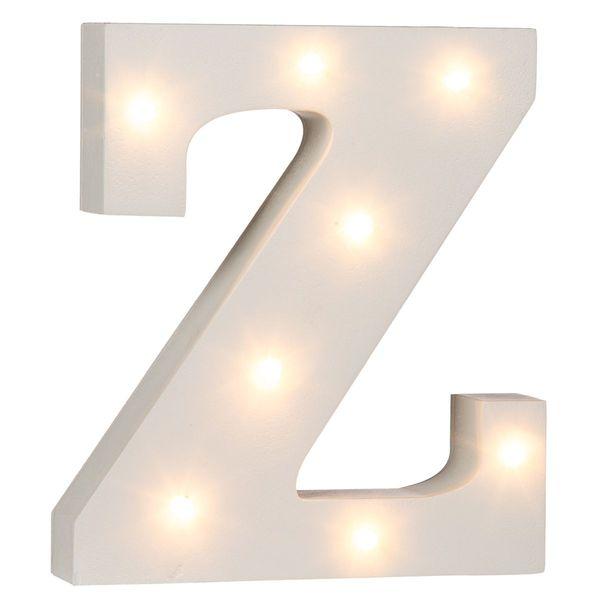 Beleuchtete Holz Buchstaben Zeichen Und Zahlen Mit Leds Ca 16 Cm Ziffer Z