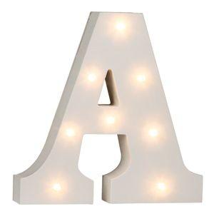 Beleuchtete Holz Buchstaben & -Zeichen und Zahlen mit LEDs ca. 16 cm