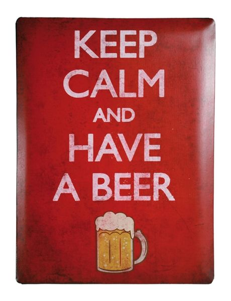 Blechschild Keep calm and have a beer