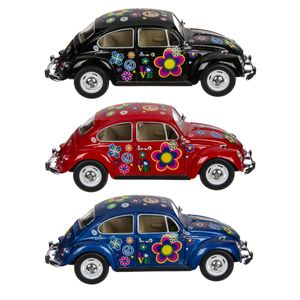 Metall Modellauto VW-Käfer 1967 Peace & Love | Blau