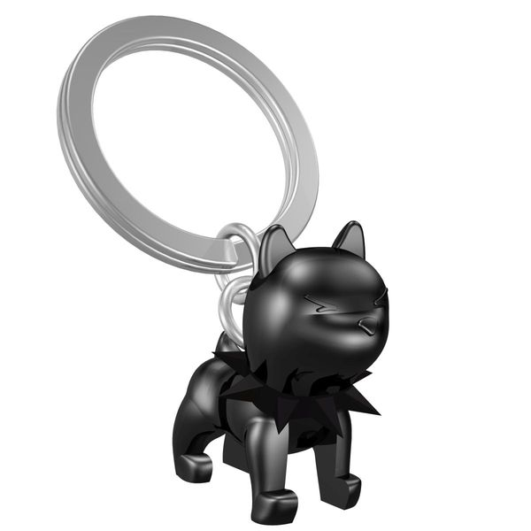 Schlüsselanhänger Bulldogge schwarz
