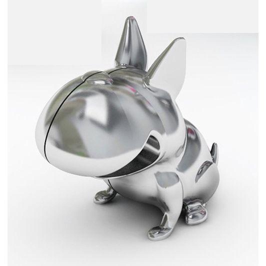 Notizhalter Bulldogge silberfarben